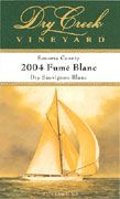 Dry Creek Vineyard Fume Blanc 2004 Front Label