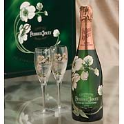 Perrier-Jouet Belle Epoque Glass Set 1998 Front Label