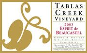 Tablas Creek Esprit de Beaucastel Rouge 2003 Front Label