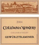 Columbia Winery Gewurztraminer 2004 Front Label