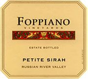 Foppiano Estate Petite Sirah 2003 Front Label