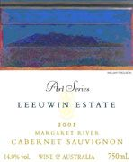 Leeuwin Estate Art Series Cabernet Sauvignon 2001 Front Label