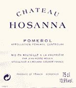 Chateau Hosanna  2001 Front Label