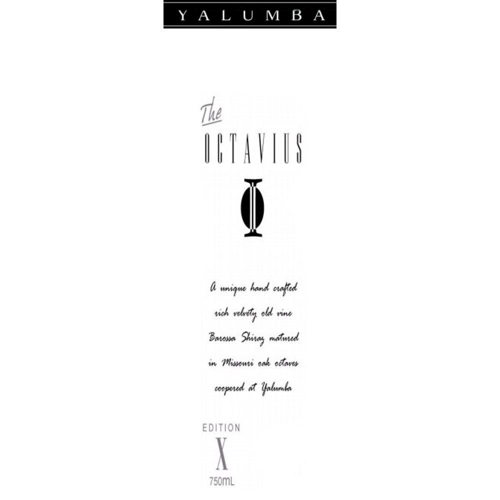 Yalumba The Octavius Old Vine Shiraz 2001 Front Label