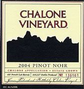 Chalone Estate Pinot Noir 2004 Front Label