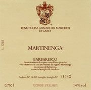 Marchesi di Gresy Barbaresco Martinenga 2001 Front Label