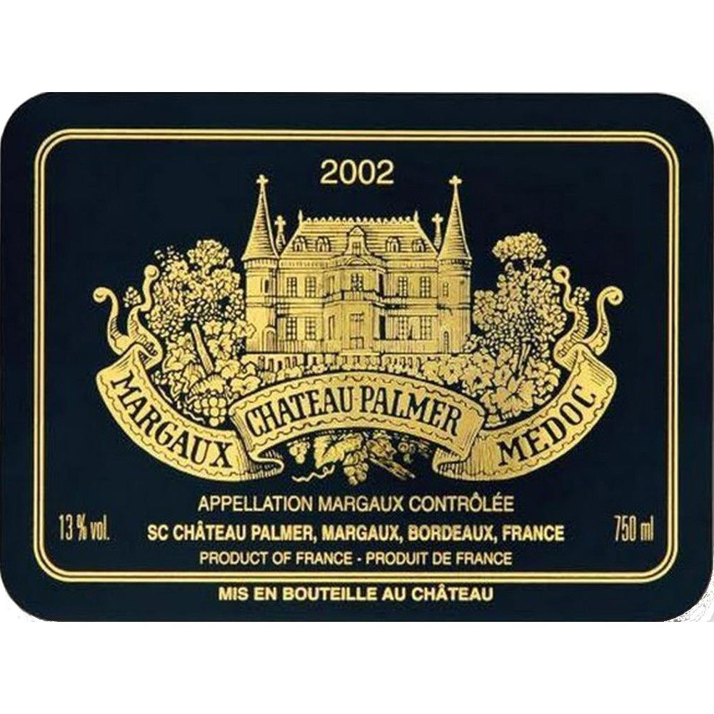 Chateau Palmer  2002 Front Label