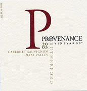 Provenance Vineyards Rutherford Cabernet Sauvignon 2003 Front Label