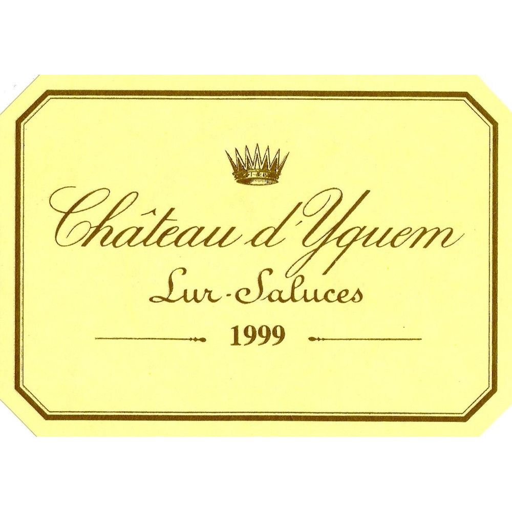 Chateau d'Yquem Sauternes (375ML half-bottle) 1999 Front Label