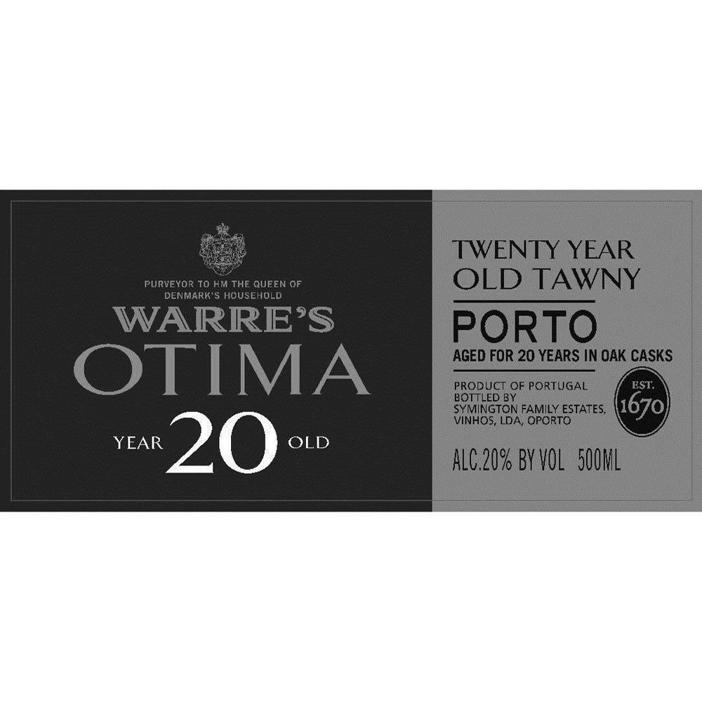 Warre's Otima 20 year Old Tawny Port (500ML) Front Label