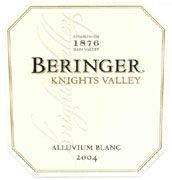 Beringer Knights Valley Alluvium Blanc 2004 Front Label