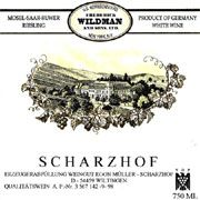 Egon Muller Scharzhofberger Riesling QbA 2004 Front Label