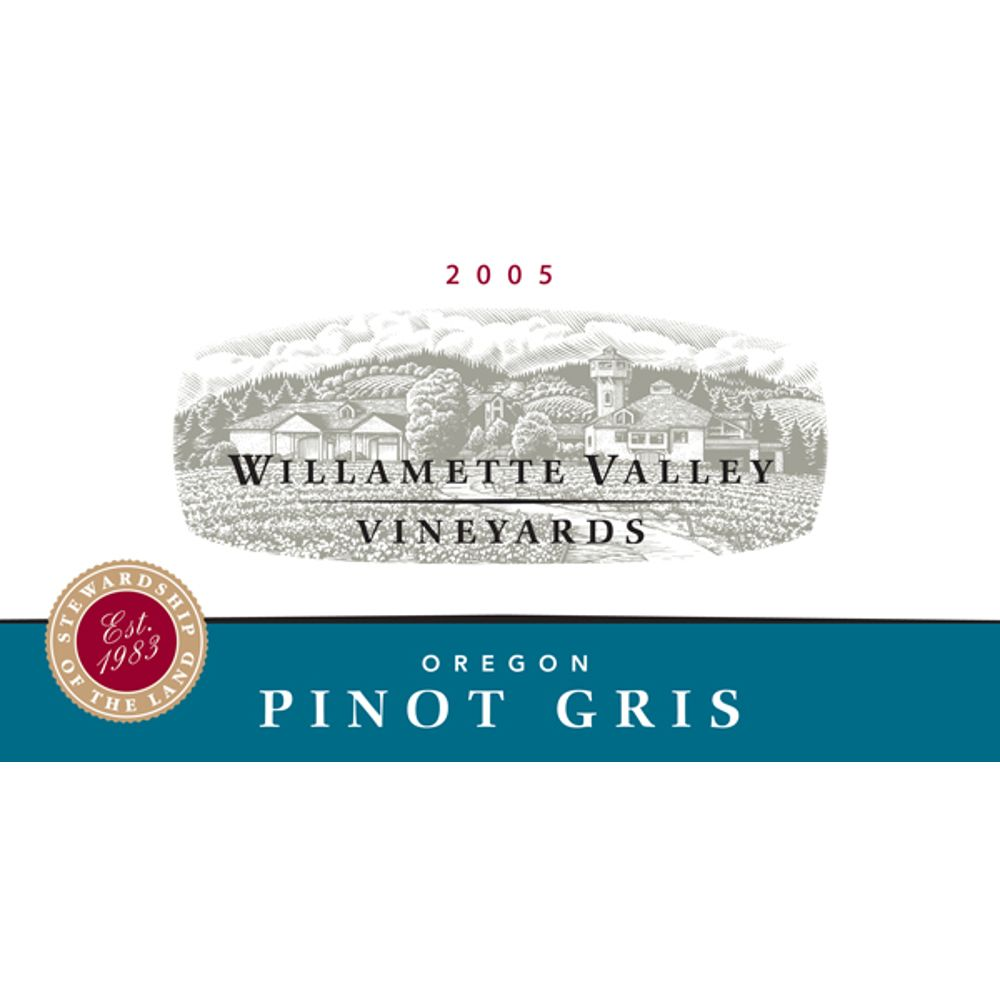 Willamette Valley Vineyards Pinot Gris 2005 Front Label