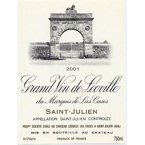 Chateau Leoville Las Cases  2001 Front Label