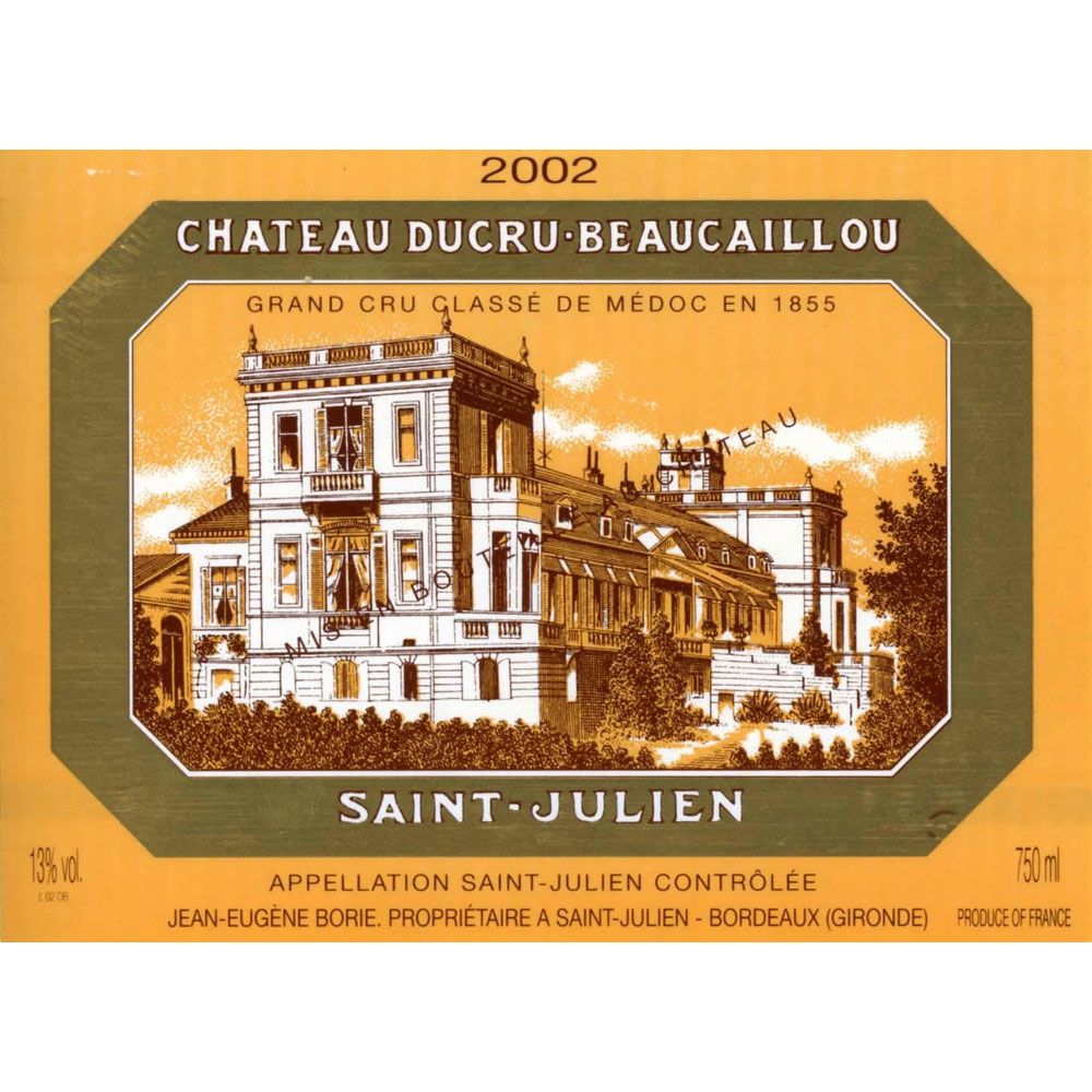 Chateau Ducru-Beaucaillou  2002 Front Label