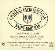 Chateau Pavie Macquin  2001 Front Label