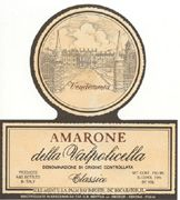 Bertani Amarone Classico 1998 Front Label