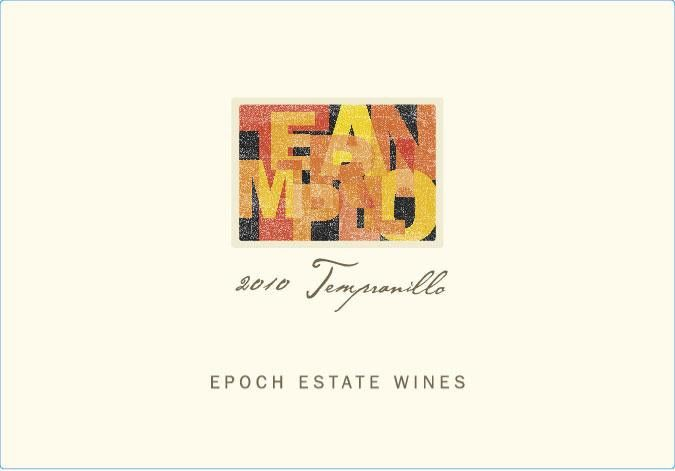Epoch Tempranillo 2010 Front Label