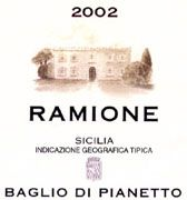 Baglio di Pianetto Ramione 2002 Front Label