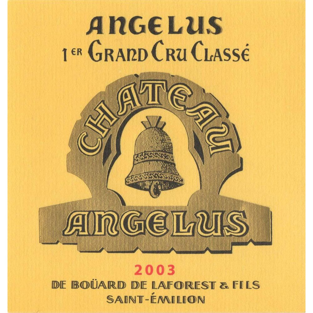 Chateau Angelus  2003 Front Label