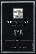 Sterling SVR Reserve 2002 Front Label