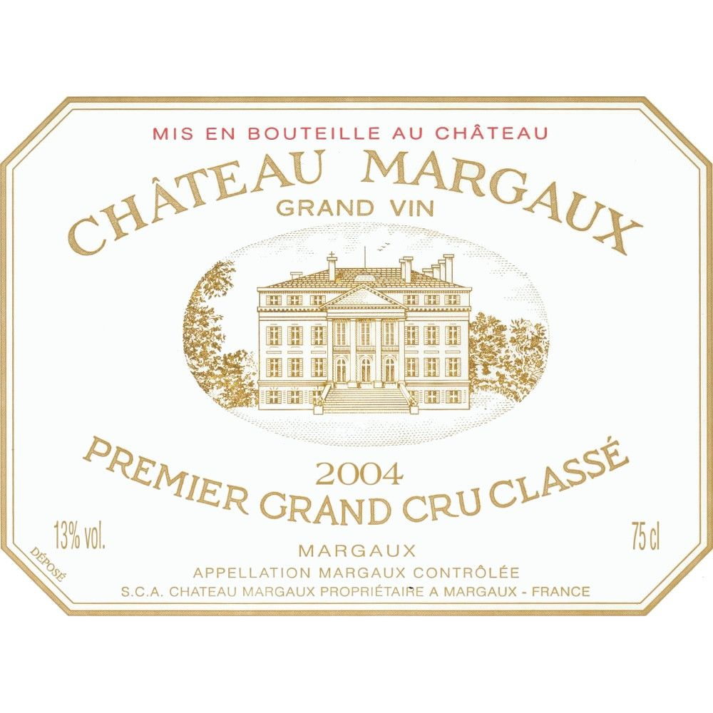 Chateau Margaux  2004 Front Label