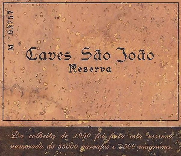 Caves Sao Joao Reserva 1995 Front Label
