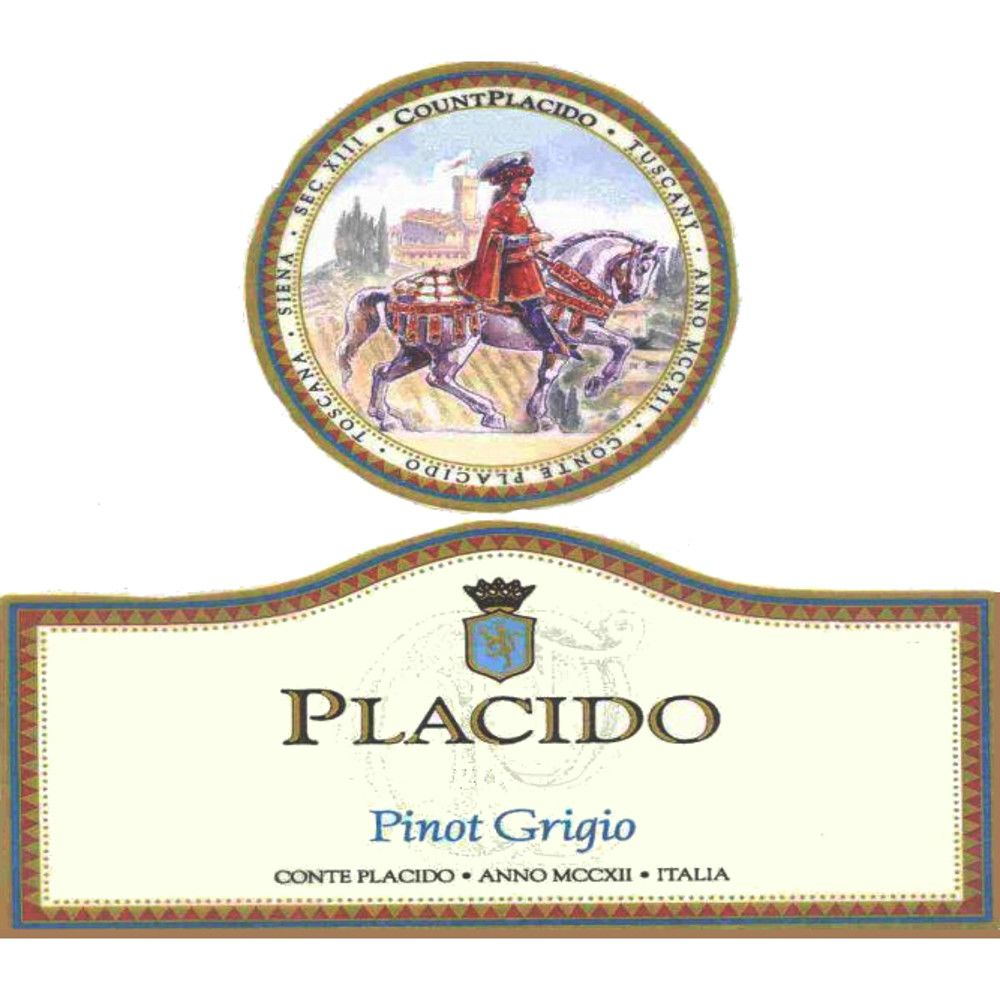 Placido Pinot Grigio 2005 Front Label