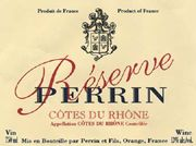 Famille Perrin Reserve Cotes du Rhone Rouge 2004 Front Label