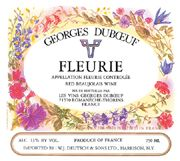 Duboeuf Fleurie 2004 Front Label