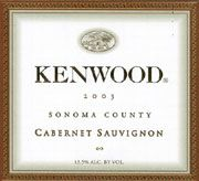Kenwood Sonoma County Cabernet Sauvignon 2003 Front Label