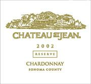 Chateau St. Jean Sonoma County Reserve Chardonnay 2002 Front Label