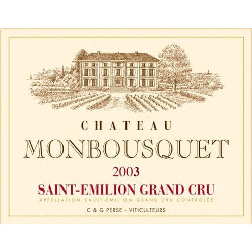 Chateau Monbousquet  2003 Front Label