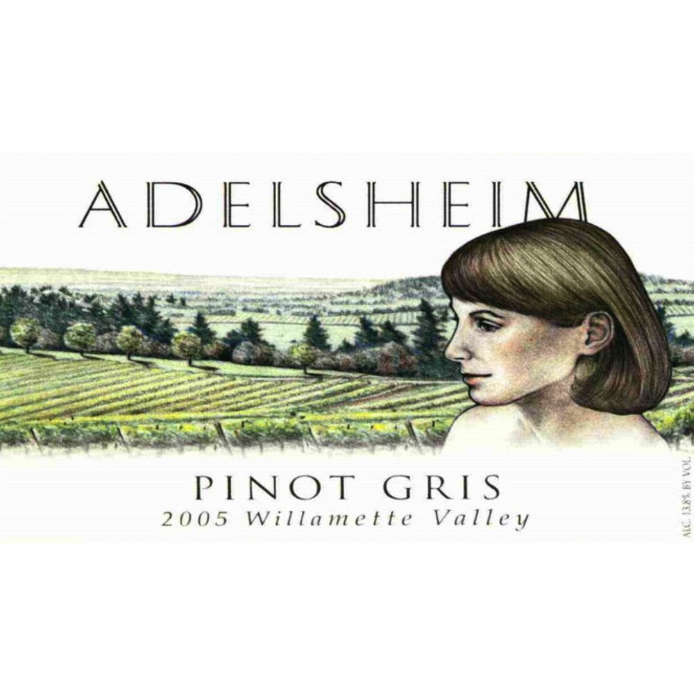 Adelsheim Pinot Gris 2005 Front Label