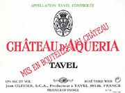Chateau D'Aqueria Tavel Rose 2005 Front Label