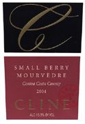 Cline Small Berry Mourvedre 2004 Front Label