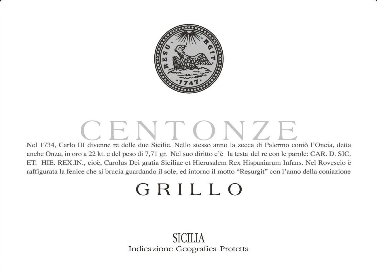 Centonze Grillo 2014 Front Label