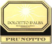 Prunotto Dolcetto d'Alba 2004 Front Label