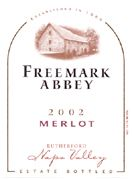 Freemark Abbey Napa Valley Merlot 2002 Front Label