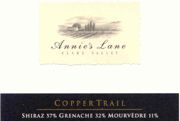 Annie's Lane Copper Trail Shiraz Grenache Mourvedre 2001 Front Label