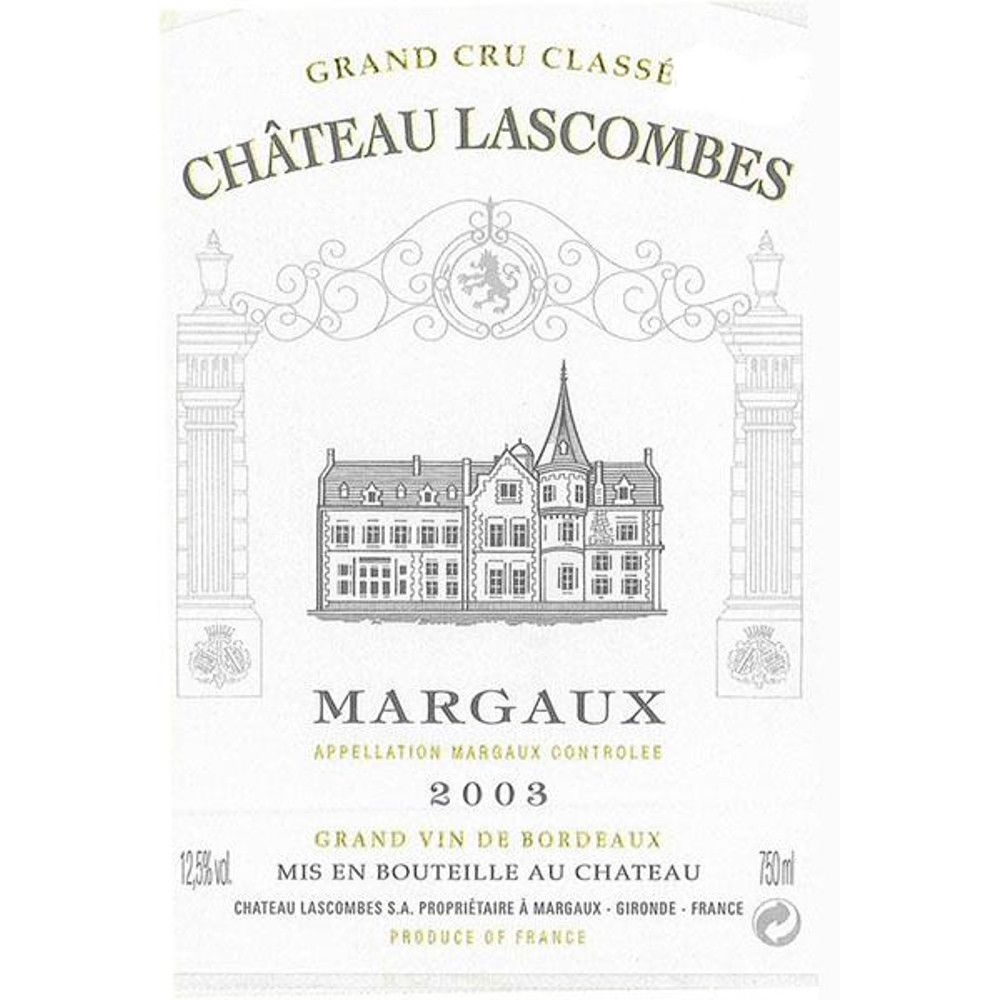Chateau Lascombes  2003 Front Label