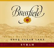 Brassfield Round Mountain Vineyard Syrah 2003 Front Label