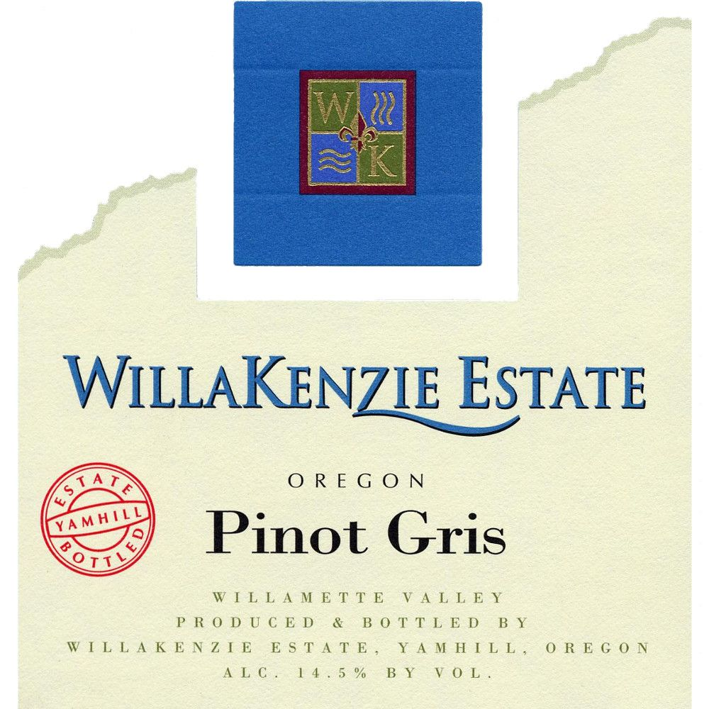 WillaKenzie Estate Pinot Gris 2005 Front Label