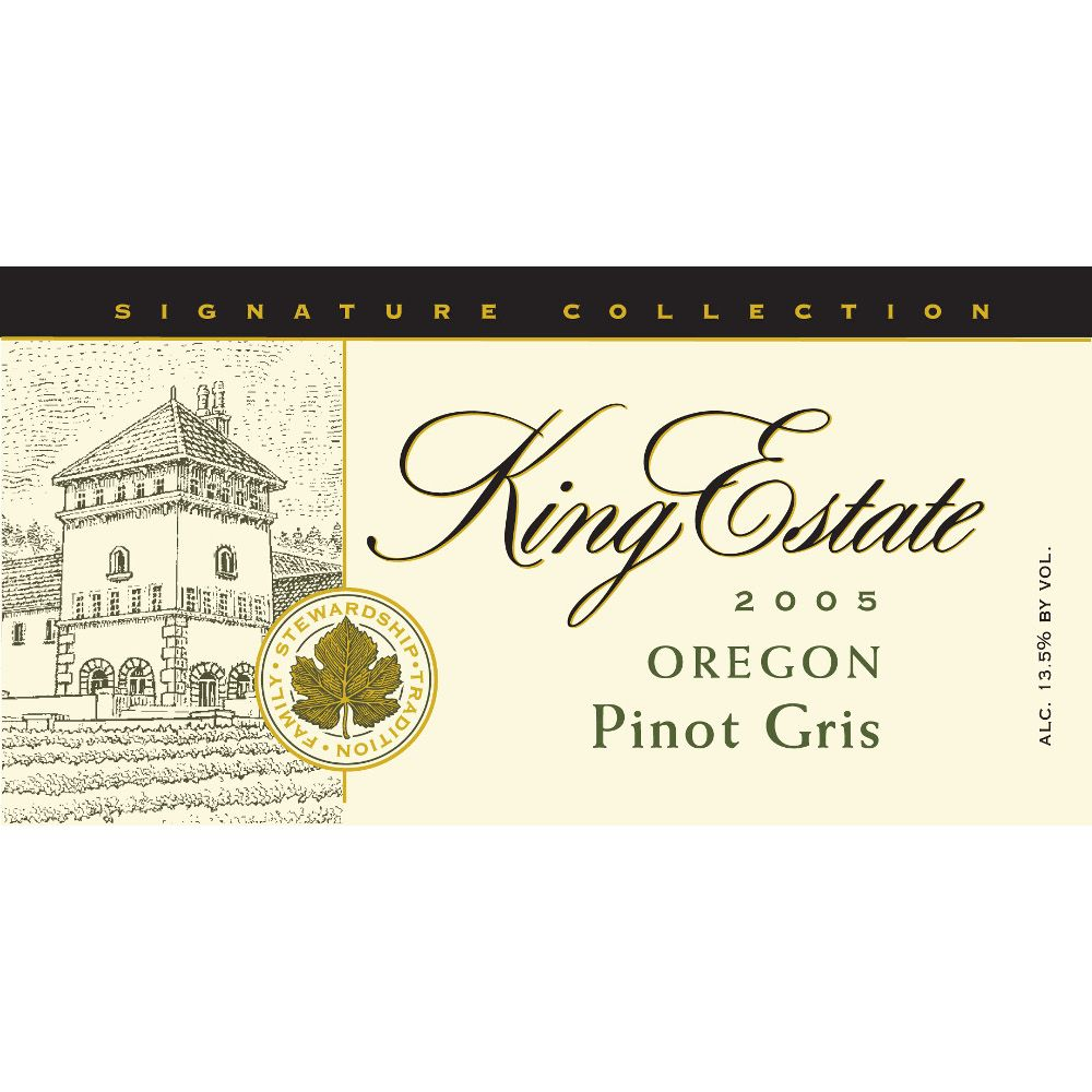 King Estate Signature Collection Pinot Gris 2005 Front Label