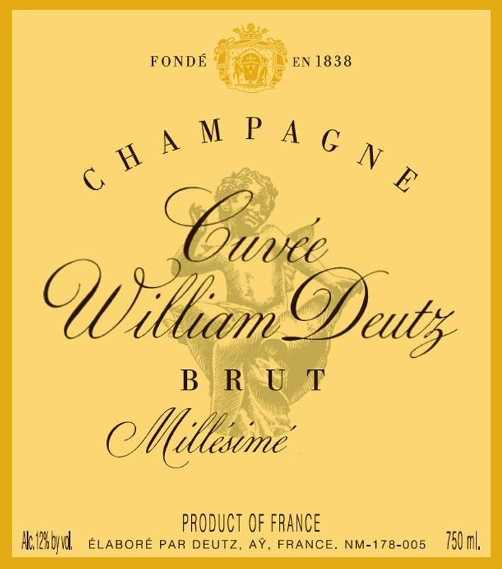 Deutz Cuvee William Deutz Brut Millesime 2006 Front Label