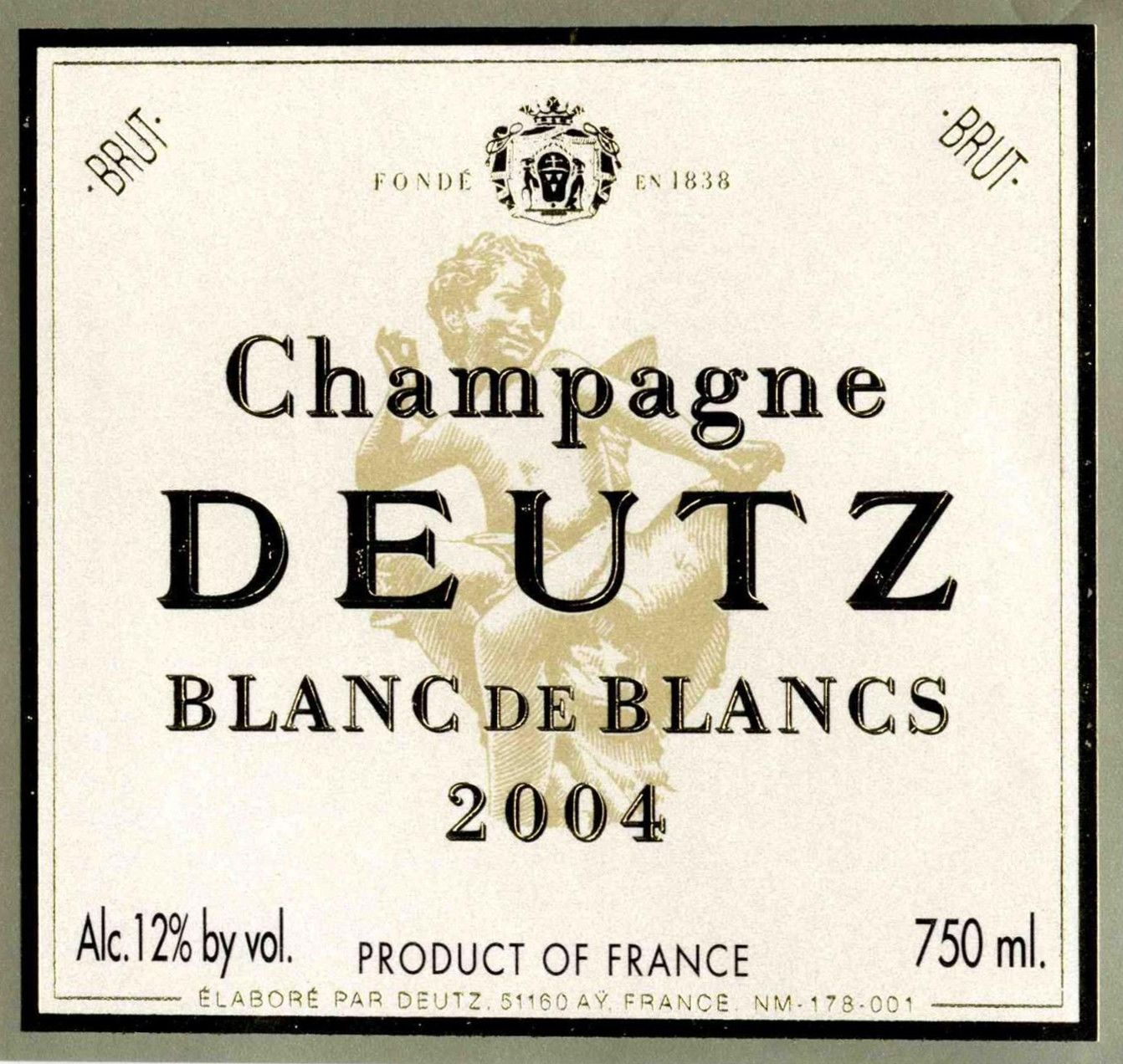 Deutz Blanc de Blancs Millesime 2004 Front Label