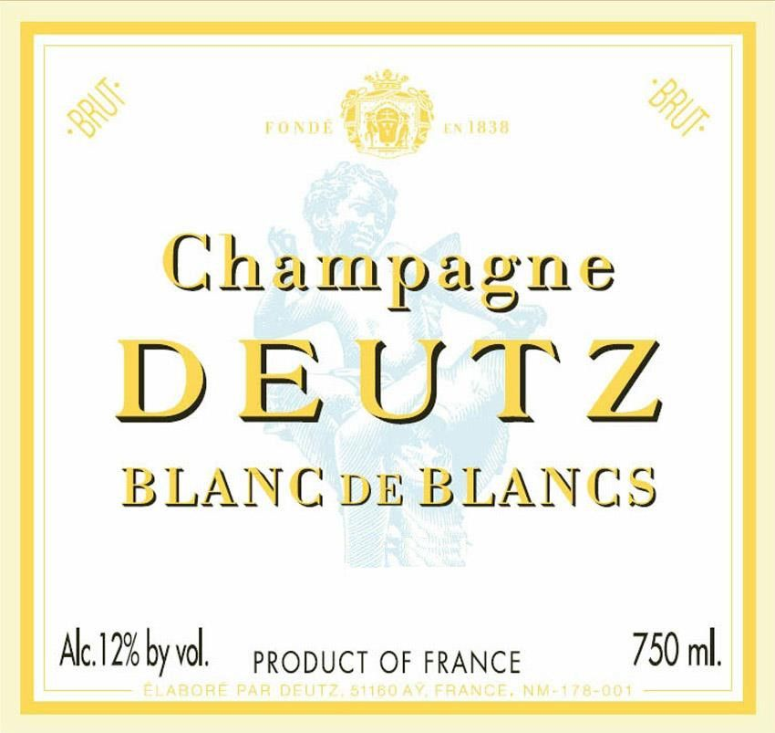 Deutz Blanc de Blancs Millesime 2009 Front Label