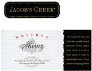 Jacob's Creek Reserve Shiraz 2003 Front Label