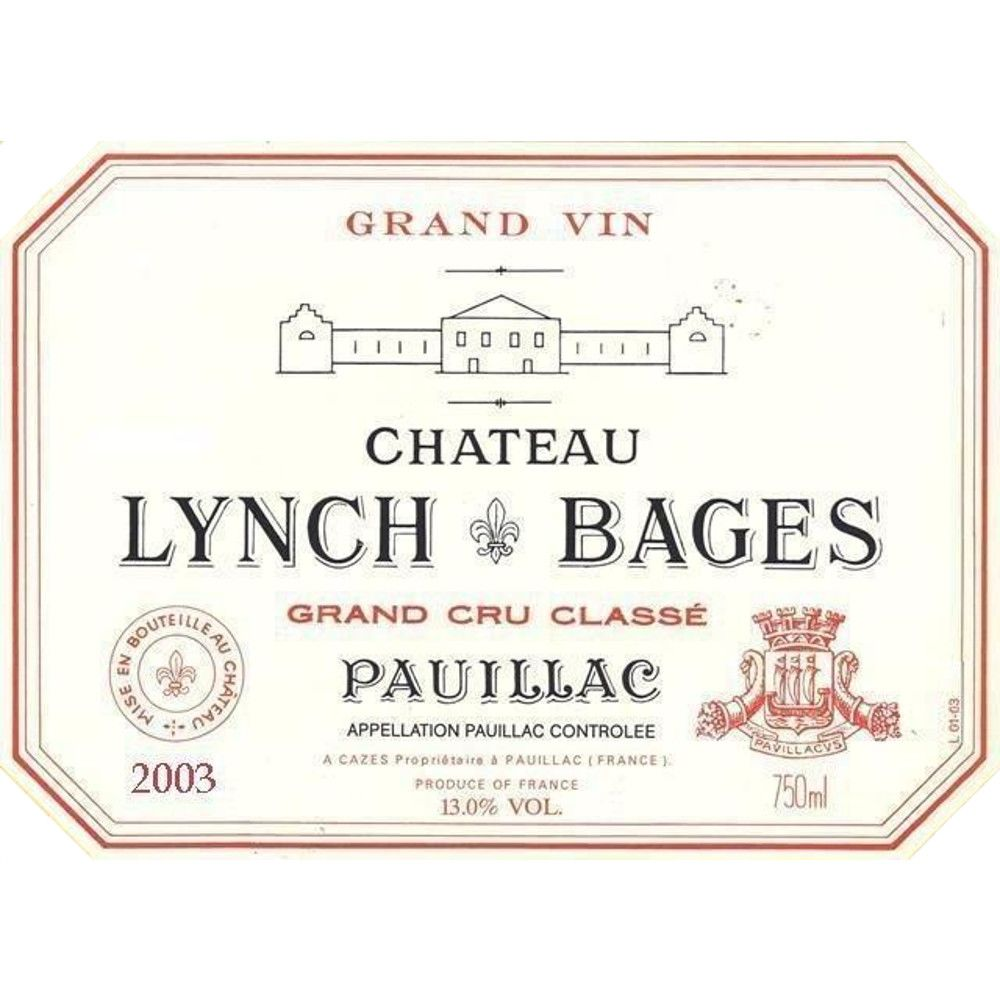 Chateau Lynch-Bages  2003 Front Label