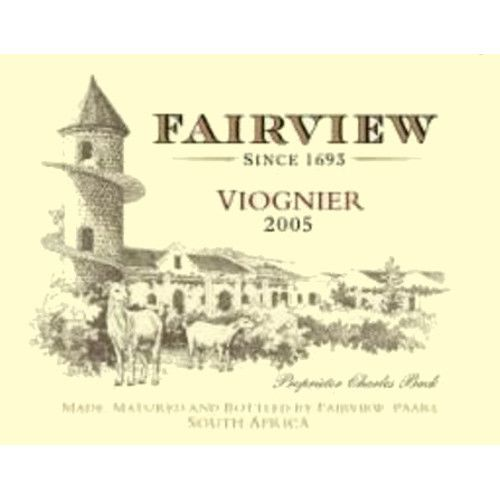 Fairview Viognier 2005 Front Label